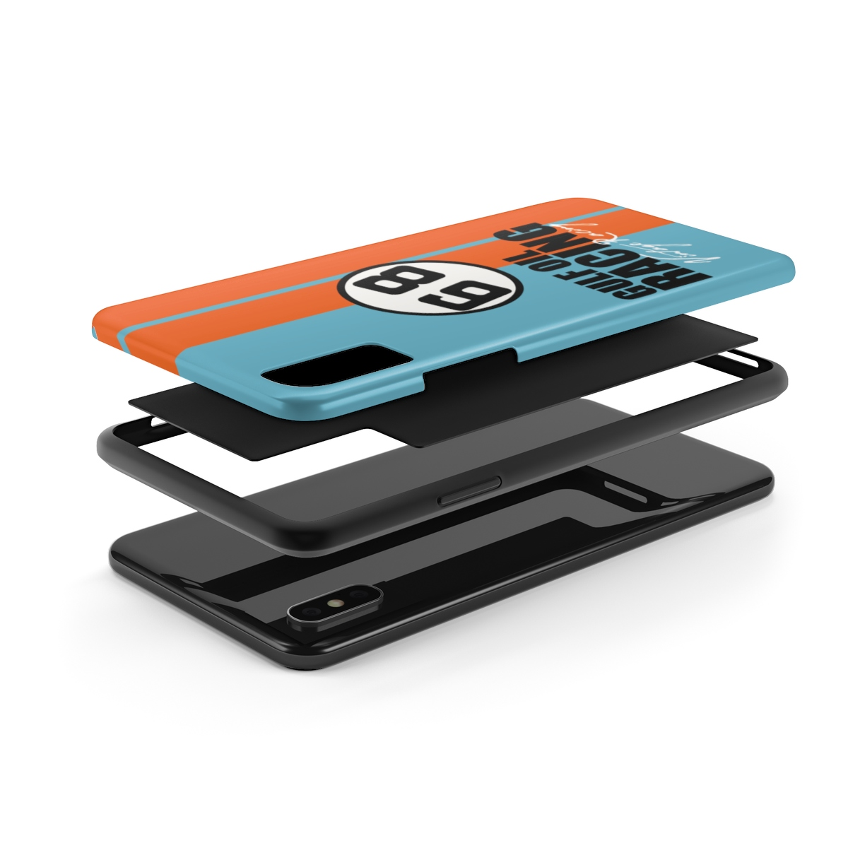 Gulf Racing Phone Case Featuring Gulf Oil Colors For Iphone And Galaxy Phones Bombay Aircraft Co Vintage Warplanes